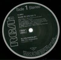 ELVIS PRESLEY Rare Elvis Vol. 3 Vinyl Record LP RCA Victor 1983